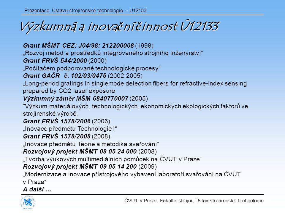 Výzkumná a inovační činnost Ú12133