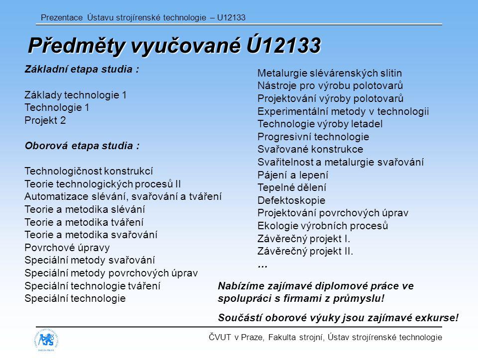 Předměty vyučované Ú12133 Základní etapa studia :