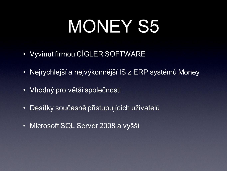 MONEY S5 Vyvinut firmou CÍGLER SOFTWARE