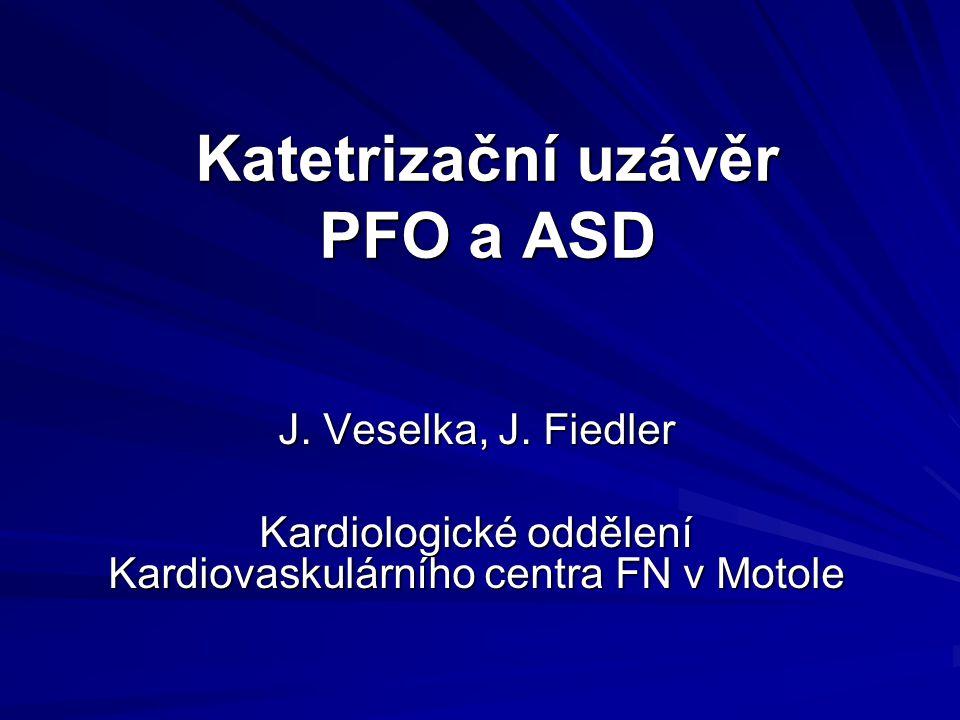 Katetrizační uzávěr PFO a ASD
