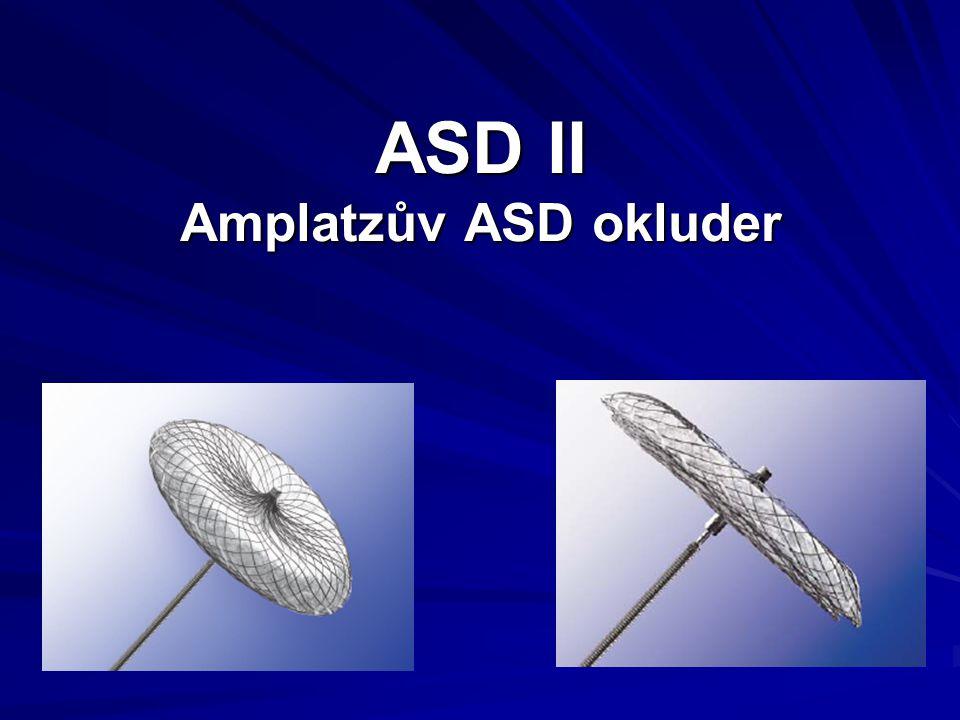 ASD II Amplatzův ASD okluder