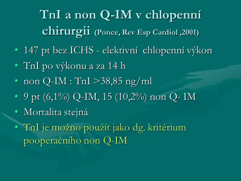 TnI a non Q-IM v chlopenní chirurgii (Ponce, Rev Esp Cardiol ,2001)