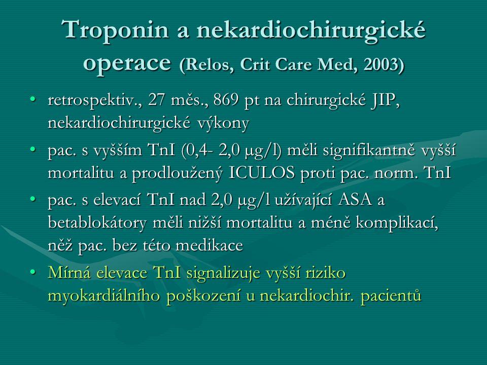 Troponin a nekardiochirurgické operace (Relos, Crit Care Med, 2003)