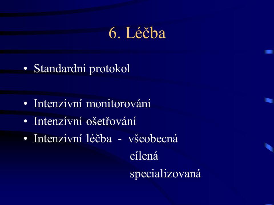 6. Léčba Standardní protokol Intenzívní monitorování