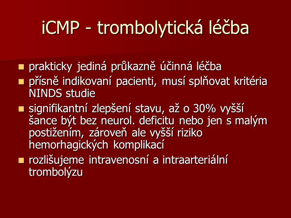 iCMP - trombolytická léčba