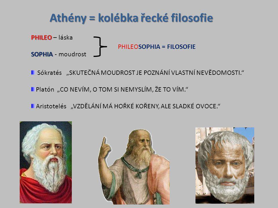 Athény = kolébka řecké filosofie