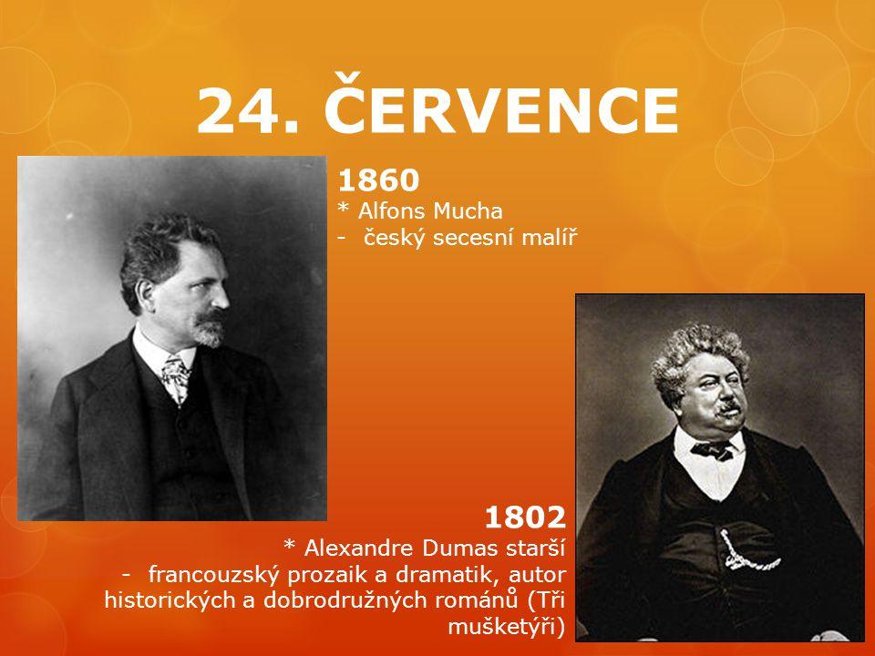 24. ČERVENCE 1860 1802 * Alfons Mucha český secesní malíř