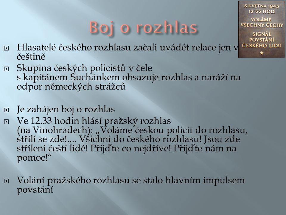 Boj o rozhlas Hlasatelé českého rozhlasu začali uvádět relace jen v češtině.