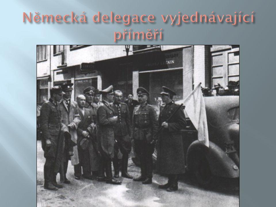 Německá delegace vyjednávající příměří