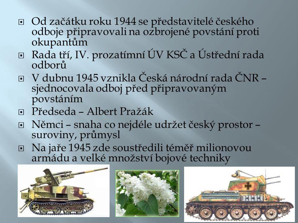 Od začátku roku 1944 se představitelé českého odboje připravovali na ozbrojené povstání proti okupantům