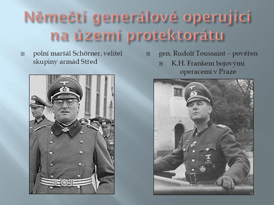 Němečtí generálové operující na území protektorátu
