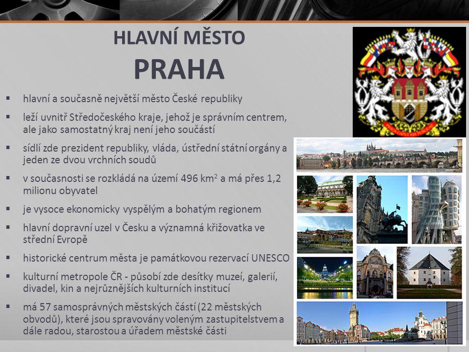 HLAVNÍ MĚSTO PRAHA hlavní a současně největší město České republiky