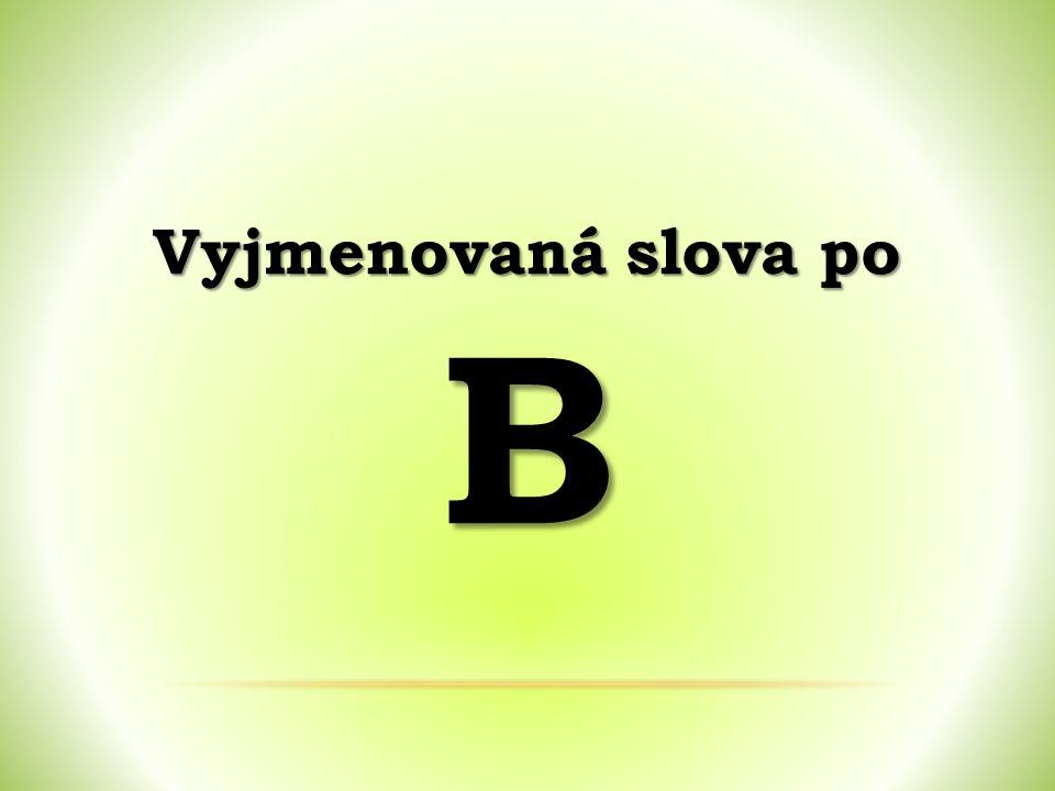 Vyjmenovaná slova po B
