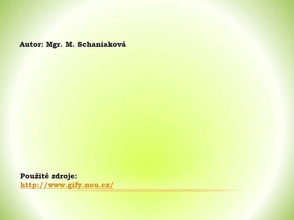 Autor: Mgr. M. Schaniaková