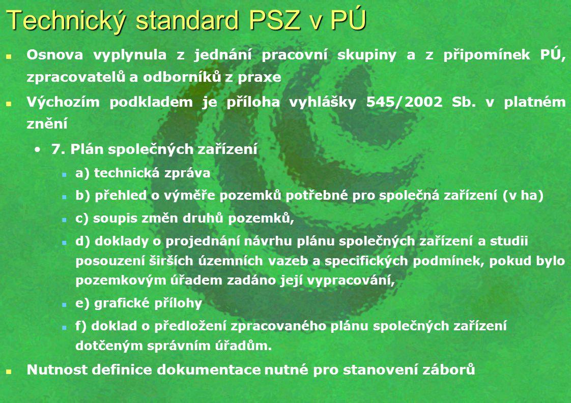Technický standard PSZ v PÚ