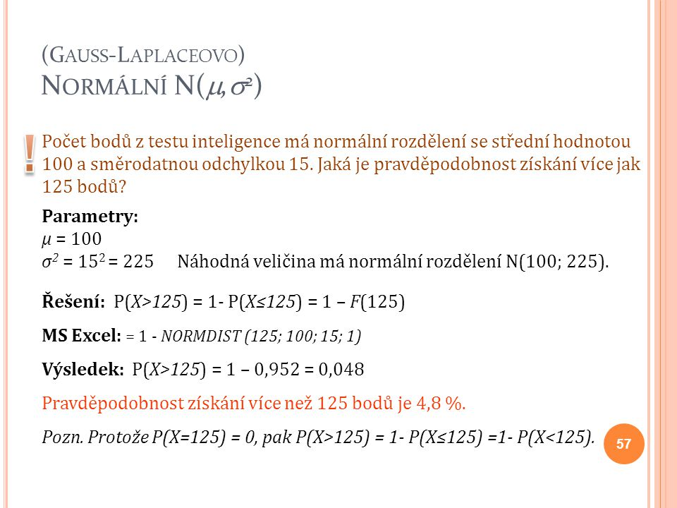 (Gauss-Laplaceovo) Normální N(,2)