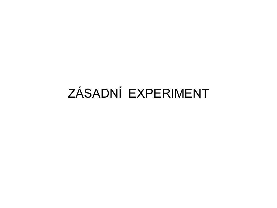 ZÁSADNÍ EXPERIMENT