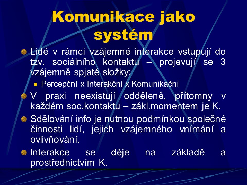 Komunikace jako systém