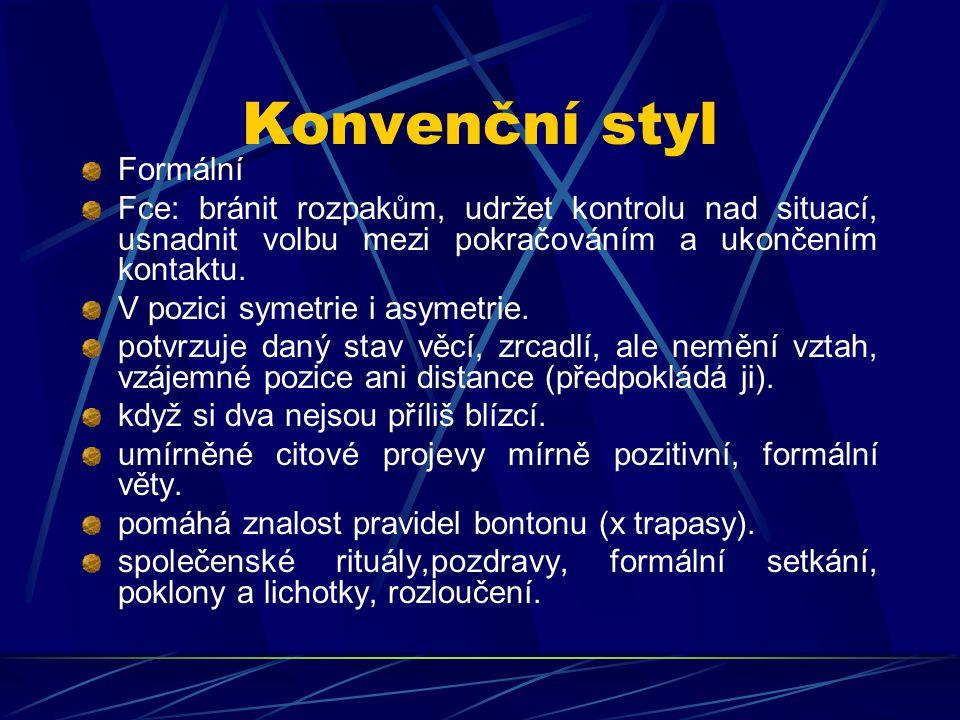 Konvenční styl Formální