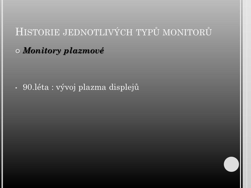 Historie jednotlivých typů monitorů