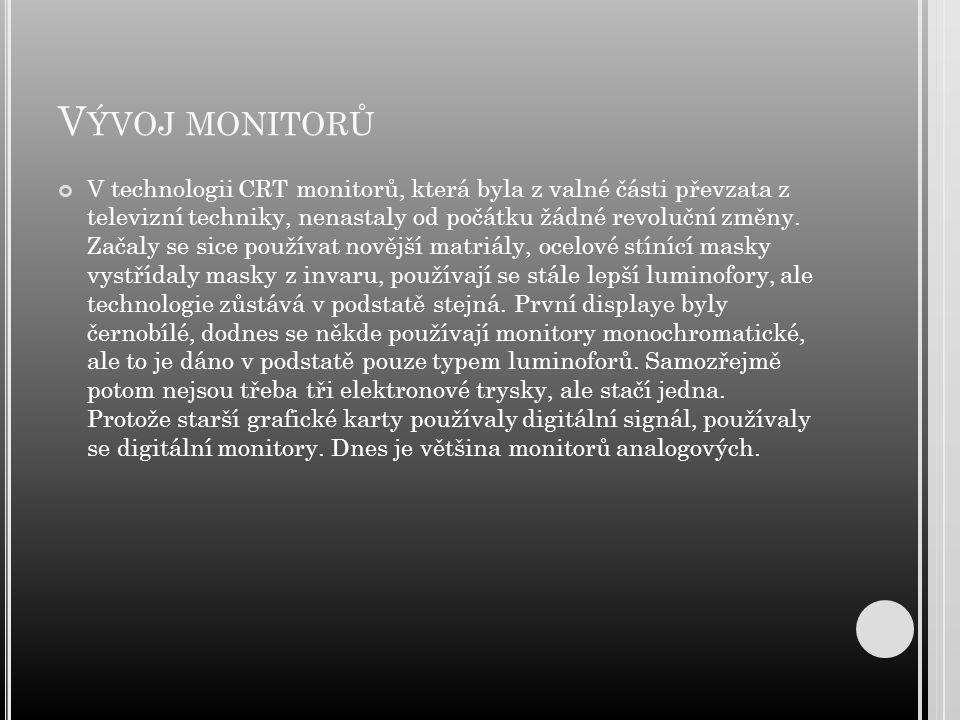 Vývoj monitorů