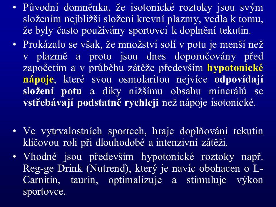 Původní domněnka, že isotonické roztoky jsou svým složením nejbližší složení krevní plazmy, vedla k tomu, že byly často používány sportovci k doplnění tekutin.