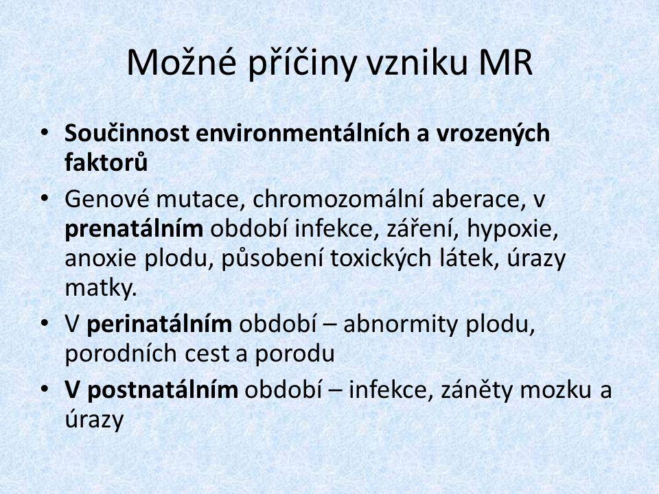Možné příčiny vzniku MR