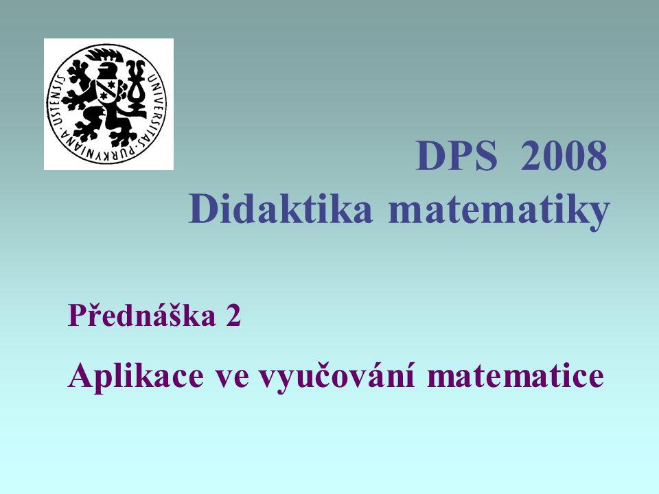 DPS 2008 Didaktika matematiky