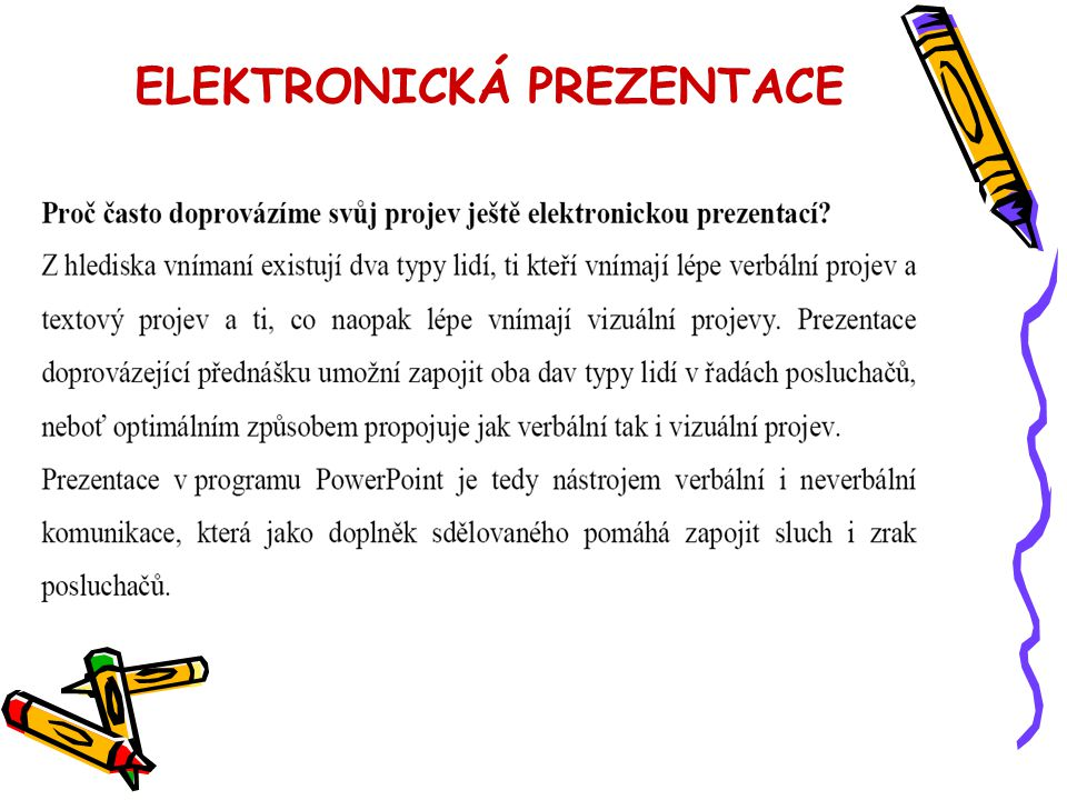 ELEKTRONICKÁ PREZENTACE