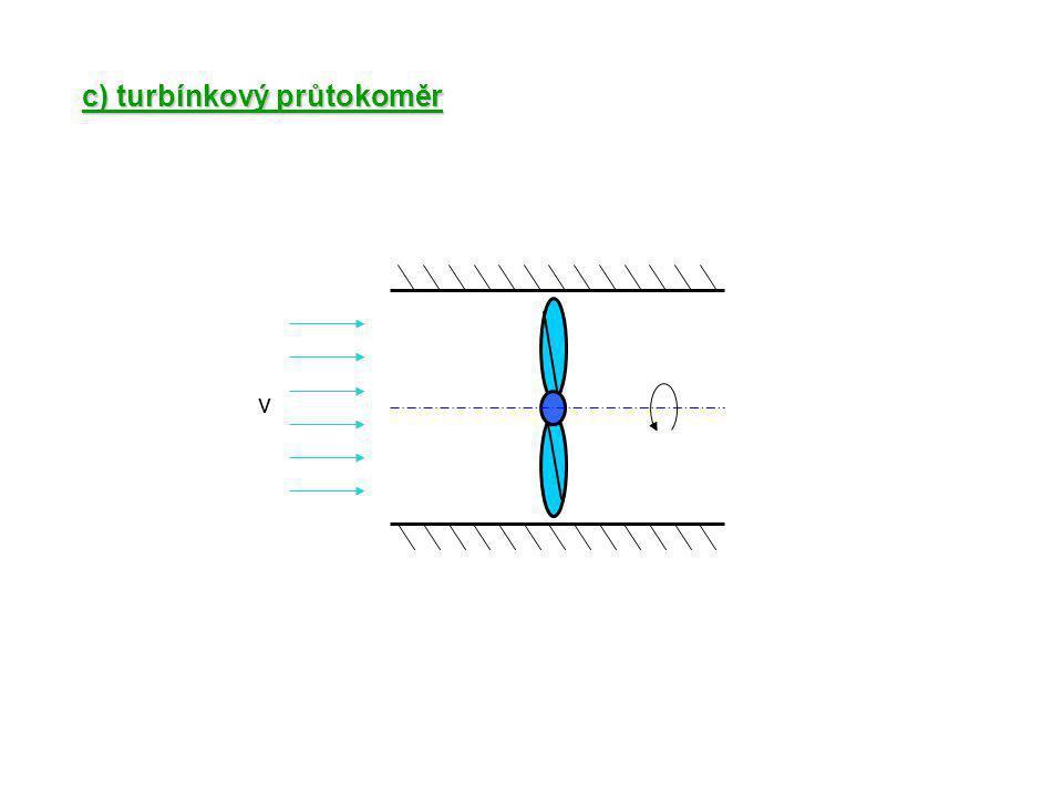 c) turbínkový průtokoměr