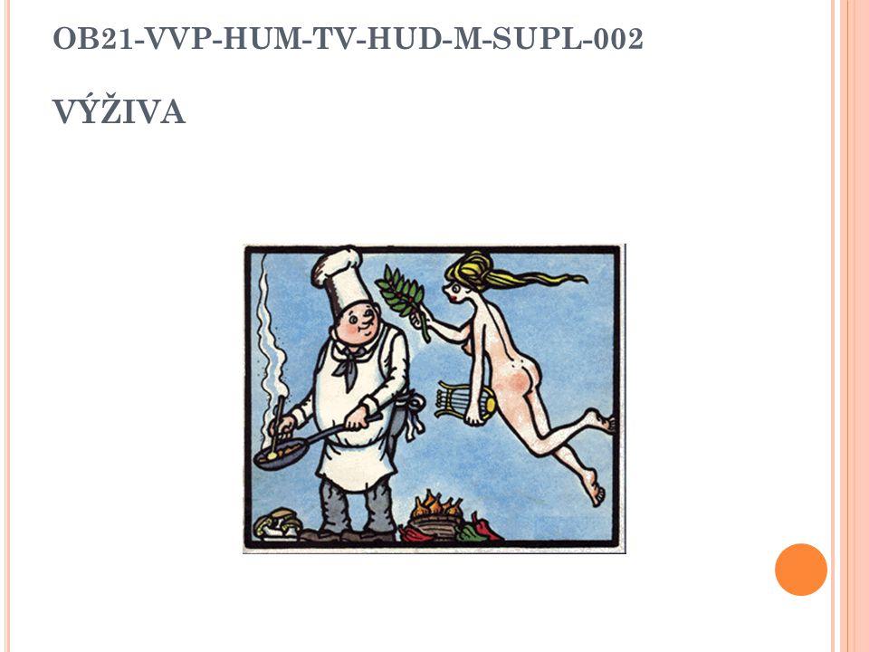 OB21-VVP-HUM-TV-HUD-M-SUPL-002 VÝŽIVA