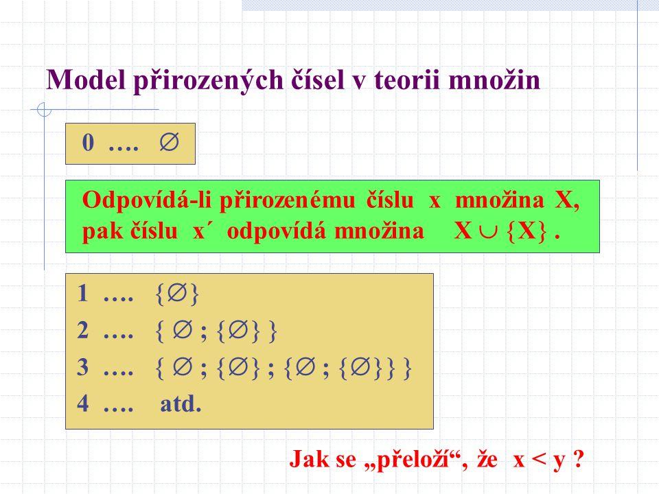 Model přirozených čísel v teorii množin