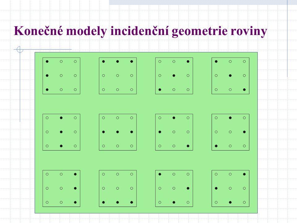 Konečné modely incidenční geometrie roviny