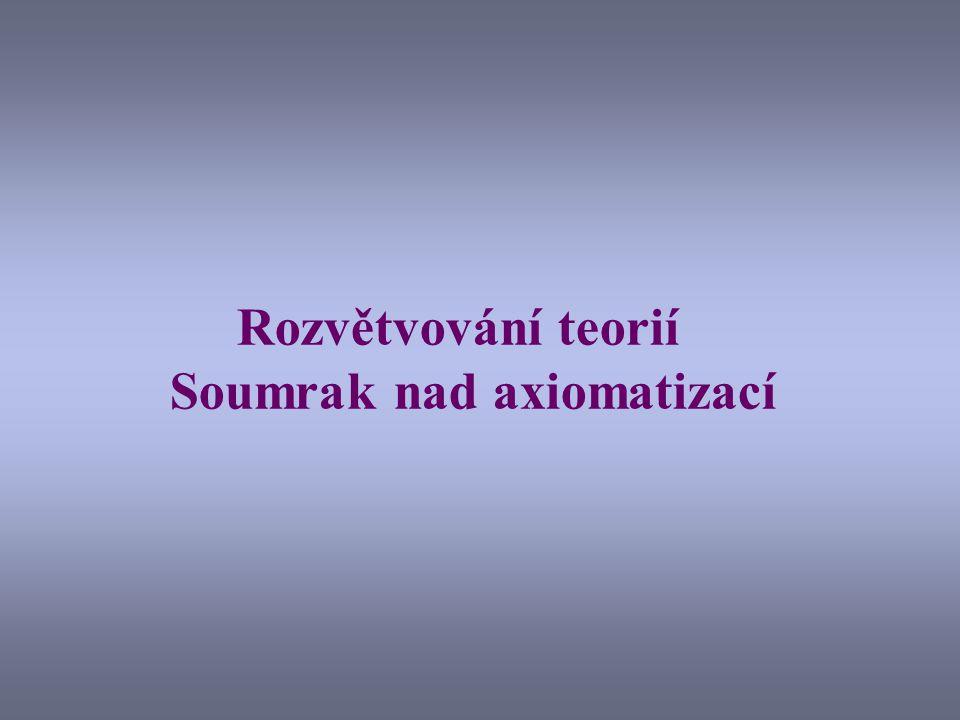 Rozvětvování teorií Soumrak nad axiomatizací