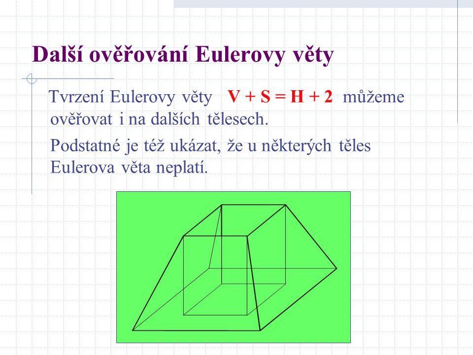 Další ověřování Eulerovy věty
