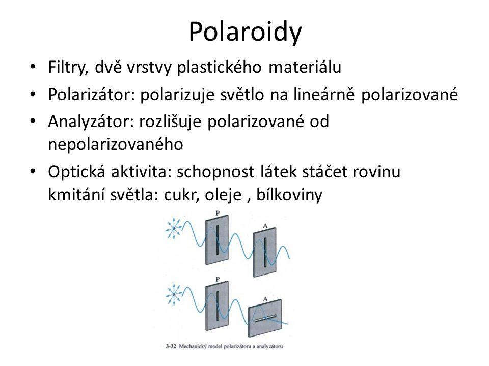 Polaroidy Filtry, dvě vrstvy plastického materiálu