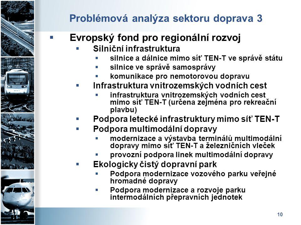 Problémová analýza sektoru doprava 3