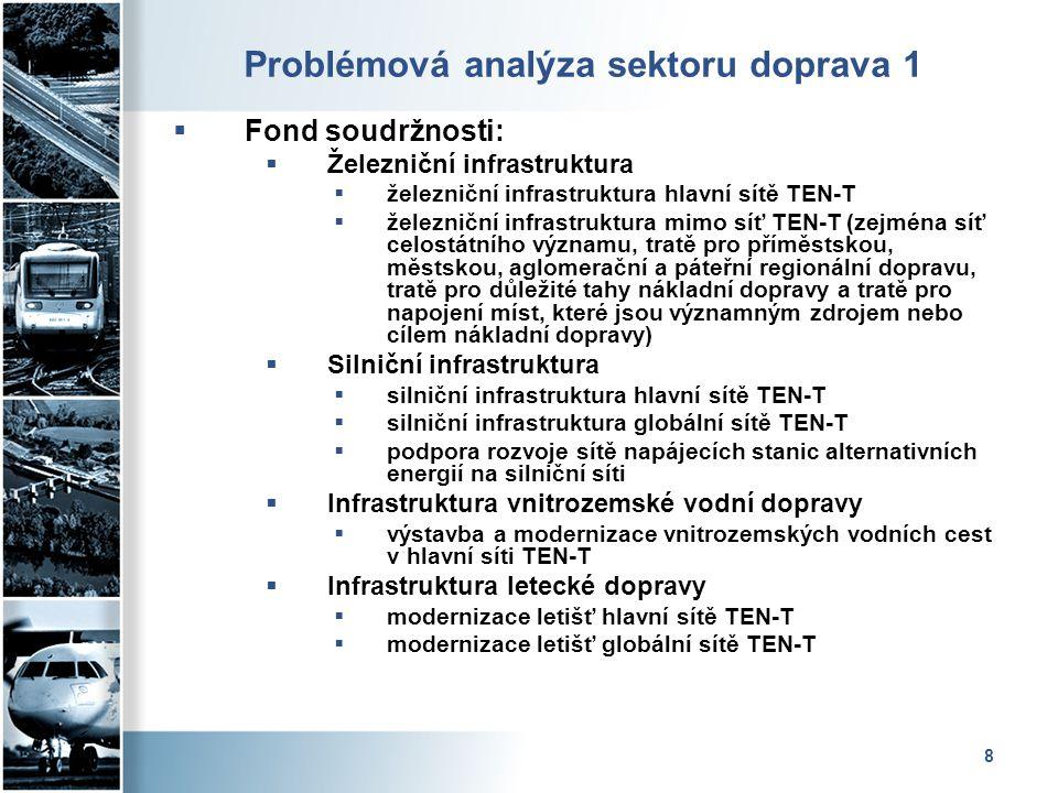 Problémová analýza sektoru doprava 1