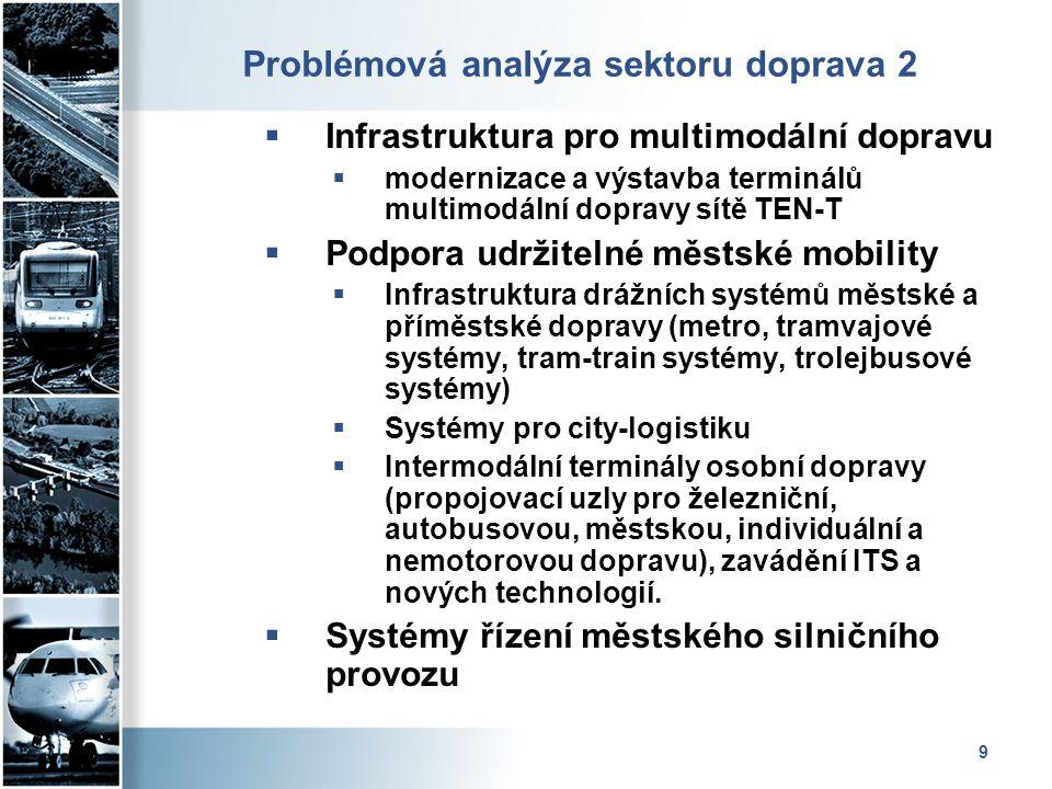 Problémová analýza sektoru doprava 2