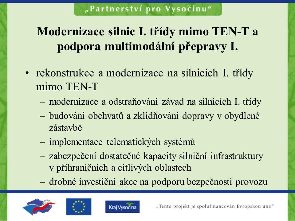 Modernizace silnic I. třídy mimo TEN-T a podpora multimodální přepravy I.