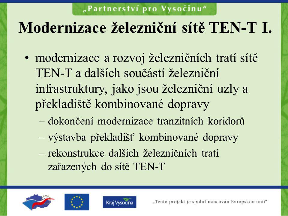 Modernizace železniční sítě TEN-T I.