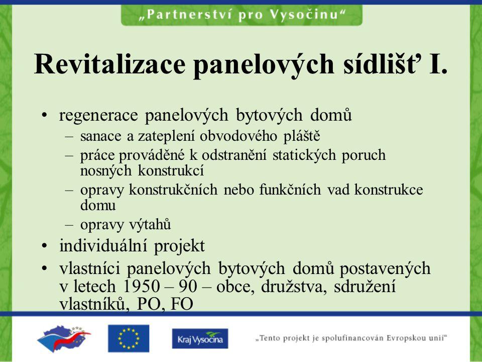 Revitalizace panelových sídlišť I.