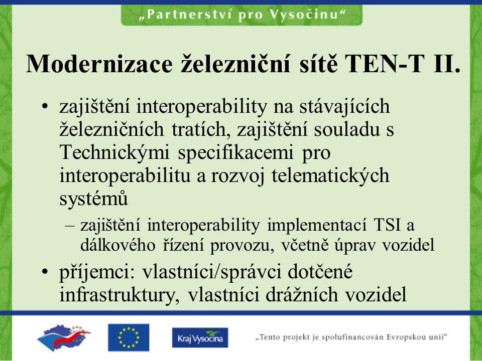 Modernizace železniční sítě TEN-T II.