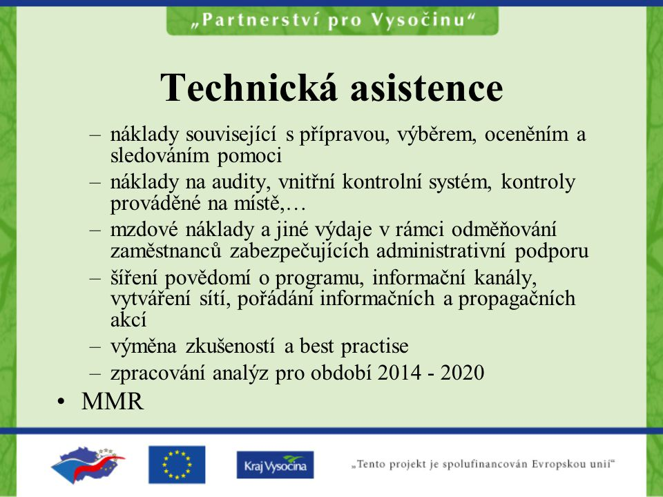 Technická asistence MMR