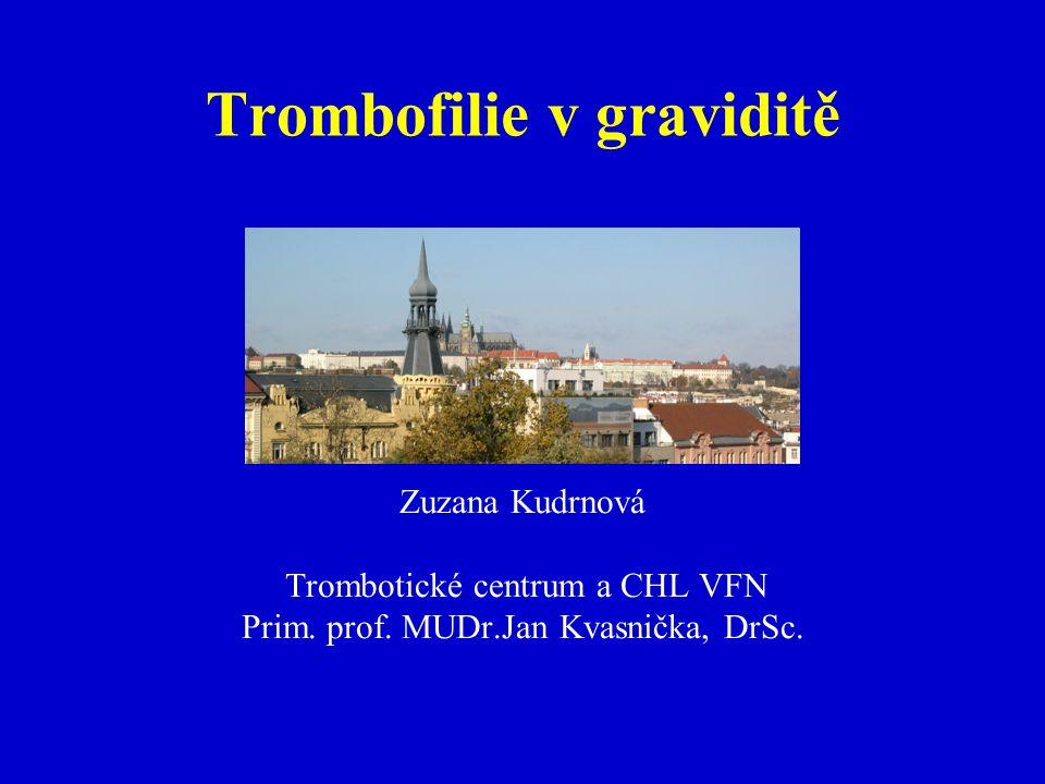 Trombofilie v graviditě