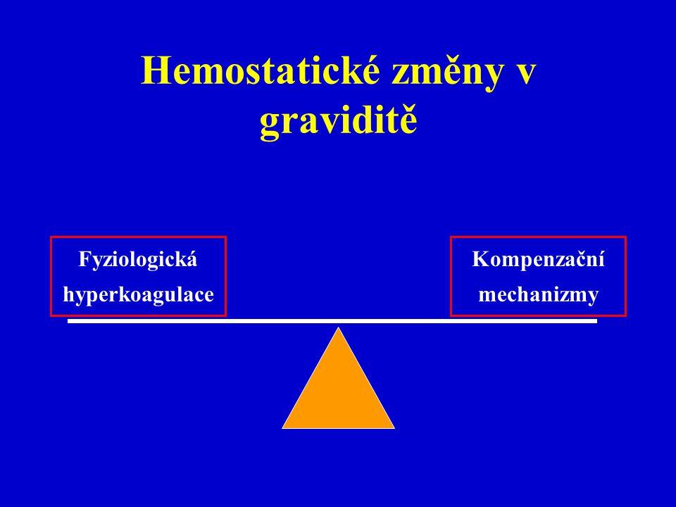 Hemostatické změny v graviditě
