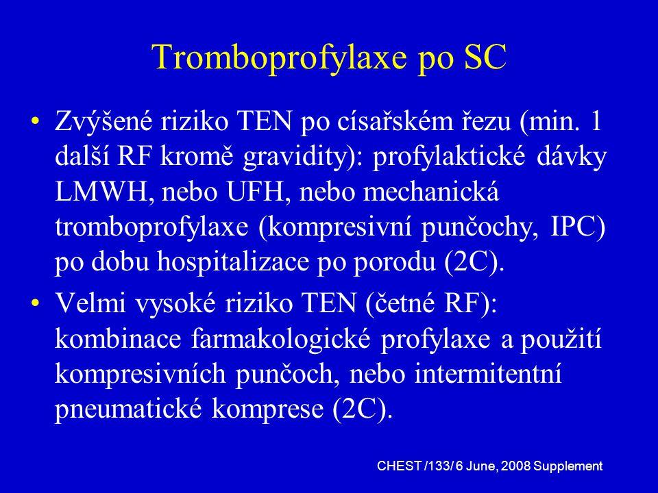 Tromboprofylaxe po SC