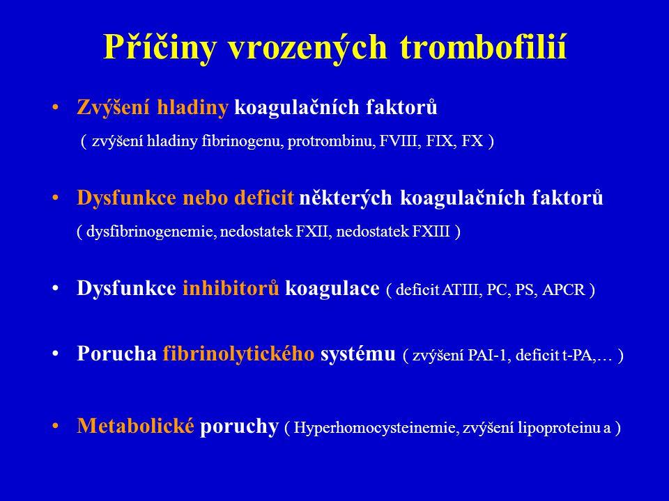 Příčiny vrozených trombofilií