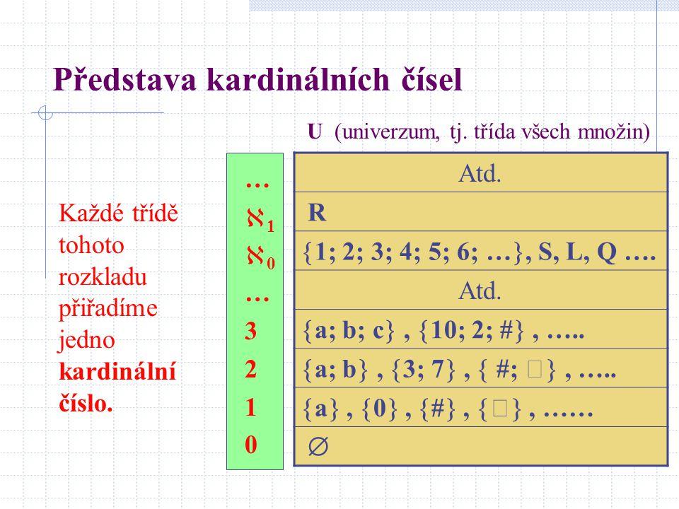 Představa kardinálních čísel