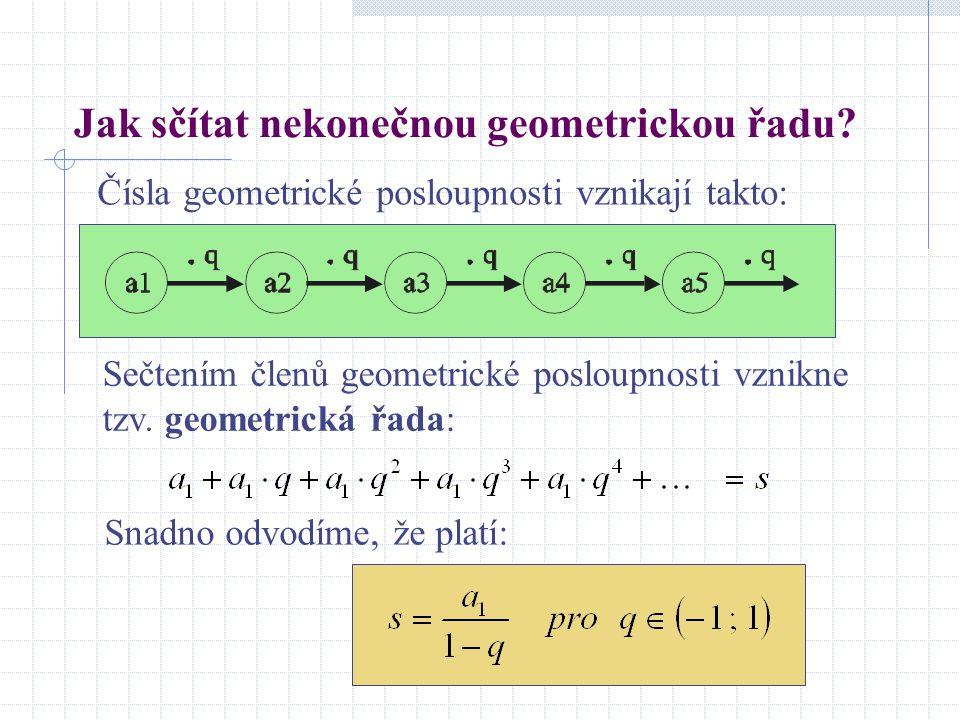 Jak sčítat nekonečnou geometrickou řadu